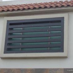 Fotografía de modelo de verjas de ventana contemporáneas reforzada