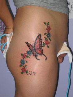 Tattoo Designs: Butterfly Tattoos On Hip