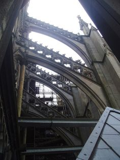 A flying buttress - perfect example of gothic architecture