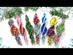 🎄 DIY Christmas toys from do-it-yourself foamiran своими diy christmas ornaments glitter foam - Foam Christmas Ornaments, Handmade Christmas Decorations, Christmas Toys, Holiday Crafts, Christmas Projects, Christmas Origami, Ornament Tutorial, Creation Deco, Foam Crafts