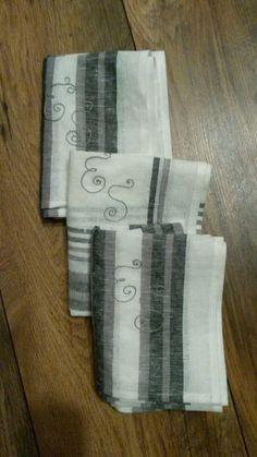 some monogrammed kitchen-towels for my friend Crossstitch, Kitchen Towels, My Friend, Cross Stitch, Punto De Cruz, Seed Stitch, Tea Towels, Cross Stitches