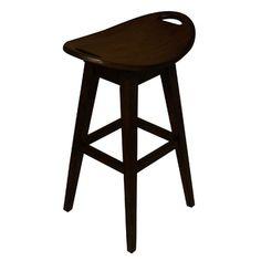 "Carolina Accents Thoroughbred 32"" Backless Swivel Bar Stool in Espresso"