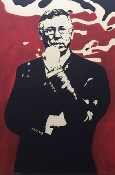 Latest painting, Alex Ferguson #popart style painting, see the video on YouTube speeded up, be sure to give a