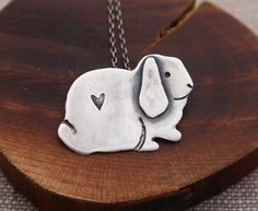 Lop Ear Bunny Image Metal Chunky Keyring in Gift Box