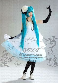 "A music software character of Japan. The name of software is ""VOCALOID."" The name of a character is ""HATSUNE MIKU."" This is clothes of ""MIKU"". ★VOCALOID初音ミクドレスカクテルパーティードレス★"