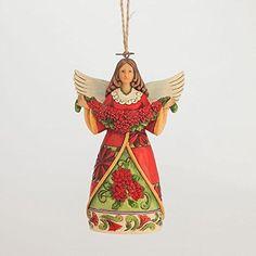 Enesco Jim Shore Poinsettia Angel Ornament