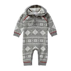 Baby Boys' Nordic Hooded One Piece