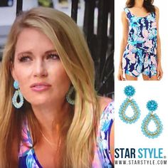 2c99f2328 Cameran Eubanks wore a Lily Pulizer Rina Romper in True Blue and Lisi Lerch  Margo earrings