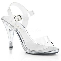 """5/"""" Clear Fitness Figure Competition Heels Shoes Wide Width size 7 8 9 10 11 12 W"""