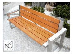 Presened Sofa Bench designed by ZANO Street Furniture has a characteristic geometric shape and excellent aesthetic. Wooden Pallet Furniture, Couch Furniture, Street Furniture, Metal Furniture, Garden Furniture, Furniture Design, Outdoor Furniture, Outdoor Decor, Outside Benches