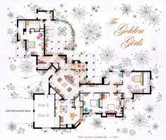 Floor plan of The Golden Girls (Iñaki Aliste Lizarralde)