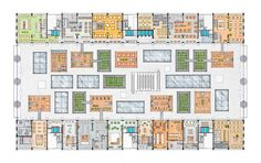 Market floor plan over booths. Markthall Rotterdam by MVRDV. Image © courtesy of Markthal Rotterdam. Click above to see larger image.