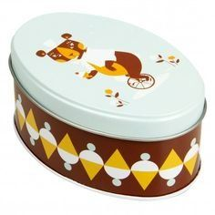 Blafre Bear Oval Tin Box. Beautiful Scandinavian design tin boxes. Can hide away your secret possessions, store home toiletries and can even use for your daily activities with your young ones! Find these products on Northlight Homestore's Amazon storefront.