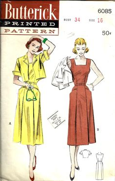 vintage butterick sewing patterns - Google Search