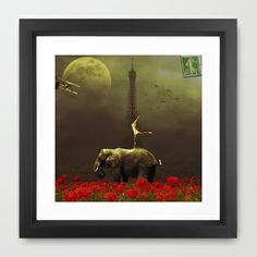 Paris Circus Framed Art Print by Lapierre Eric - $32.00