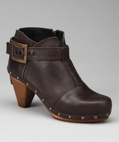 Take a look at this Dark Brown Owl Bootie - Women by Sanita Clogs on #zulily today!