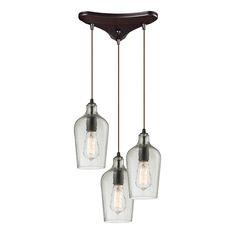 Elk lighting Hammered Glass