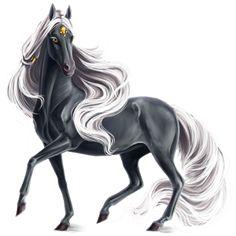 Ash, Pegasus Mustang Roan #49548920 - Howrse
