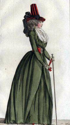 Madame de Pompadour (Green redingote from the Journal des Luxus, April...)