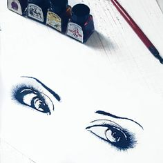 "69 mentions J'aime, 2 commentaires - 2Filles_1Livre (@2filles_1livre) sur Instagram : ""Sexy eye look 🎨 . . .  #drawing #instaart #dessin #blackandwhite #ink #sketch #eyes #sunday #weekend"""