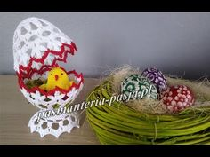 Free Crochet Doily Patterns, Crochet Doilies, Lacemaking, Easter Crochet, Easter Crafts, Grapevine Wreath, Happy Easter, Easter Eggs, Projects To Try