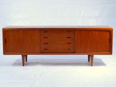 Teak Sideboard von H.P. Hansen, 60er XXL Credenza Danish Modern 60s, Mid Century