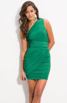 Soprano Ruched One Shoulder Dress at Nordstrom: http://shop.nordstrom.com/s/soprano-ruched-one-shoulder-dress-juniors/3253680