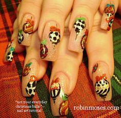 """Nail-art by Robin Moses: """"christmas nails"""" """"cute christmas nails"""" """"easy christmas nails"""" """"christmas nail ideas"""" """"fun christmas nails"""" """"fun h..."""