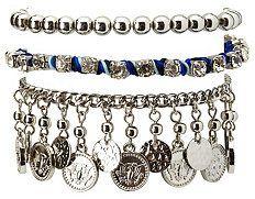 Mixed Media Stackable Bracelets - 3 Pack