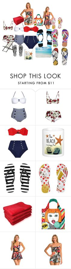 Beach Day by diane-auriemma on Polyvore featuring Lisa Marie Fernandez, Penbrooke, Kate Spade, Dolce&Gabbana and LOQI