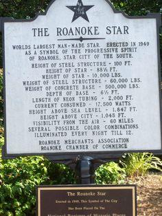Roanoke Star ~ Mill Mountain ~ Roanoke ~ Virginia