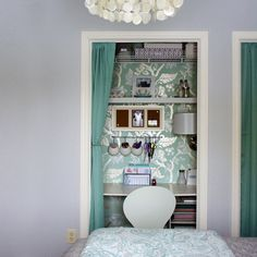 Remodelaholic | Closet Office Inspiration Galore!! What a great idea for a small space.