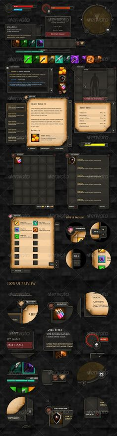 RPG User Interface - GraphicRiver Item for Sale UI: