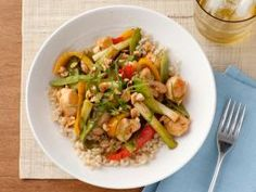 Sweet and Sour Chicken : Cooking the chicken quickly over high heat gives this dish a crisp crust (minus the deep fryer), while fresh orange juice in the sauce and lots of vegetables keep it nutritionally balanced.