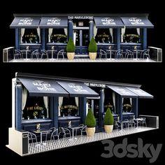 3d models: Building - Summer cafe 2 Outdoor Cafe, Outdoor Restaurant, Cafe Restaurant, Cafe Interior Design, Boutique Interior, Interior Decorating, Restaurant Exterior Design, Coffee Shop Bar, Coffee Shop Design