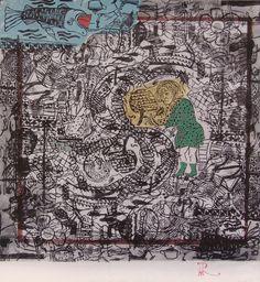 "En Malecón y Lealtad hay situación, 2014 – From ""Chaos"" Series, Manipulated Xylography, 33 x 36 inch"