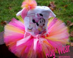 Baby Minnie Mouse First Birthday Shirt  Tutu Outfit any age