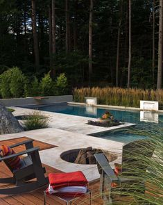 Everyone enjoys deluxe pool designs, aren't they? Below are some leading list of high-end pool photo for your motivation. These dreamy pool design ideas will change your backyard right into an exterior oasis. Outdoor Fire, Outdoor Living, Fire Pits For Sale, Moderne Pools, Fire Pit Designs, New England Homes, New Homes, Ideas Hogar, Outdoor Spaces