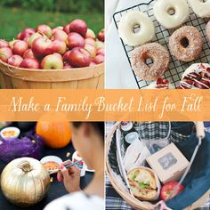 Ideas for creating a fun family bucket for fall!