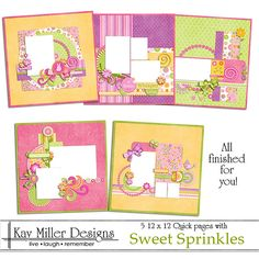 Sweet Sprinkles Quick Pages