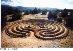 Earth mound labyrinth in New Mexico.