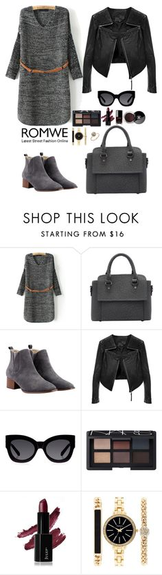 """""""Romwe 8"""" by amra-f ❤ liked on Polyvore featuring Linea Pelle, Karen Walker, Chanel, NARS Cosmetics, Style & Co., Fall, 1d, romwe and 5sos"""
