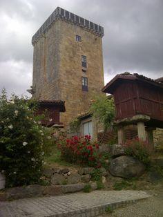 #Torre #Medieval en Vilanova dos #Infantes, #Celanova, #Galicia
