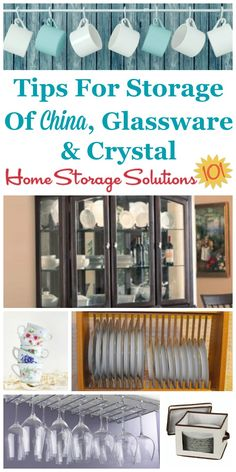 Here Are Tips For Storage China Glware And Crystal To Keep It Clean