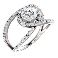 Accented Engagement Ring Item #12349