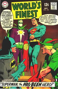 World's Finest Comics Batman, Superman, Green Arrow Neal Adams Marvel Dc Comics, Dc Comics Superheroes, Old Comics, Vintage Comics, Vintage Books, Superman Comic, Old Superman, Superman Stuff, Superman Family