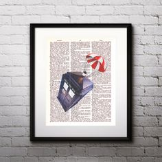 Tardis Doctor Who Poster  Art print Vintage by DigitalPosterPrint