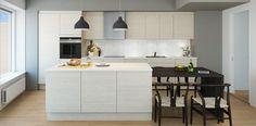 """#ethjemfraskanska#petersborgkvartalet""""kjøkken 3d, Table, Furniture, Home Decor, Modern, Room Decor, Home Interior Design, Desk, Tabletop"""