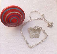 Butterfly pendant sterling silver pendant by SamsabyElena on Etsy
