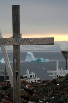 Cemetery on the Scoresby Sund, Greenland